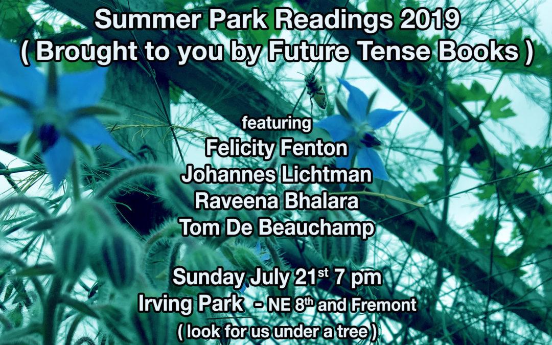 Summer Park Readings 2019!